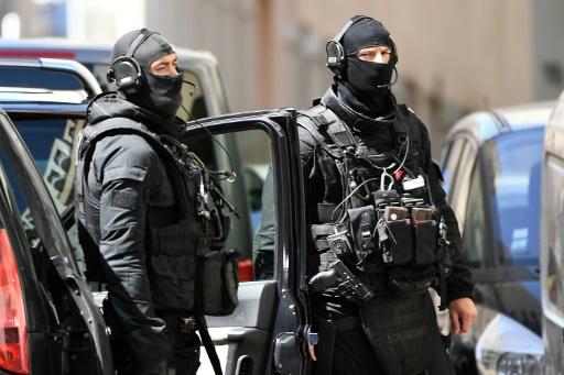 Des membres du RAID le 18 avril 2017 à Marseille © BORIS HORVAT AFP