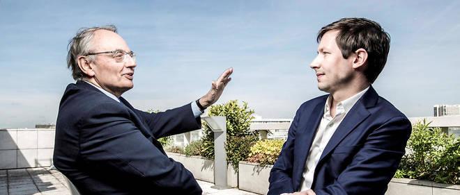 Points de vue. Jean-Louis Bourlanges etFrançois-Xavier Bellamy lors de leur entretien au «Point», le 11 avril.