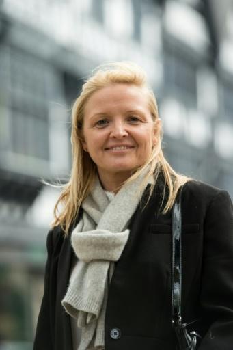 Pamela Hall, conseillère municipale pour le Parti conservateur, le 21 avril 2017 à Chester ©  AFP