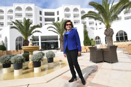 """""""On n'oublie pas. Le jour de l'ouverture, j'ai eu une pensée très forte pour les victimes et les familles"""", a déclaré à l'AFP la propriétaire de l'hôtel, Zohra Driss. © FETHI BELAID AFP"""
