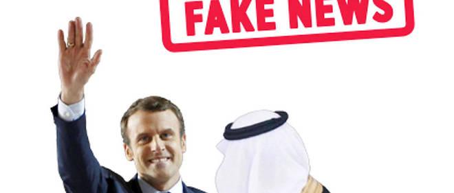 Un faux site d'information prétendait que l'Arabie saoudite finançait la campagne de Macron.