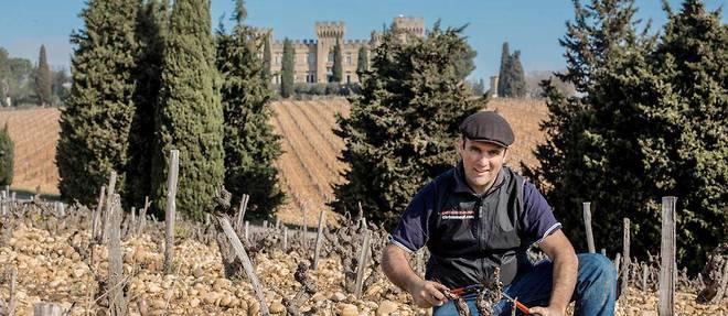 Frédéric Maillet, viticulteur du château des Fines Roches, château-neuf-du-pape. ©Ian HANNING/REA