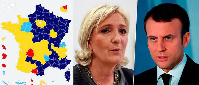 Le Vote Pour Marine Pen Et Celui Emmanuel Macron Coupent La France En Deux