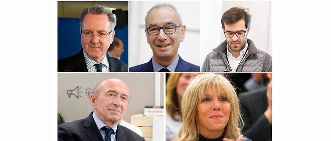 Richard Ferrand, Jean Pisani-Ferry, Ismaël Emelien, Gérard Collomb et Brigitte Macron.
