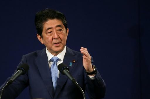 Le Premier ministre japonais Shinzo Abe à Londres, le 29 avril 2017 © Daniel LEAL-OLIVAS AFP