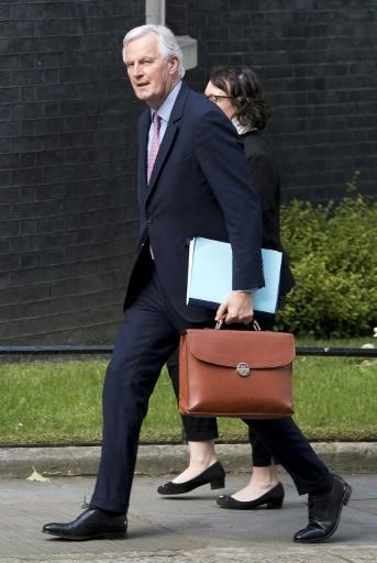 Michel Barnier, le 26 avril 2017 à Londres © Justin TALLIS AFP