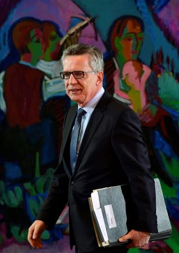 Le ministre de l'Intérieur Thomas de Maizière, arrive pour la réunion hebdomadaire du cabinet à la chancellerie, à Berlin, le 22 février 2017 © John MACDOUGALL AFP/Archives