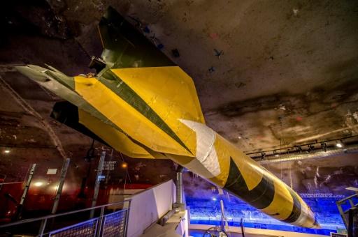 Une fusée V2 exposée au Centre d'histoire et de mémoire de La Coupole à Helfaut, près de Saint-Omer, le 26 avril 2017 © PHILIPPE HUGUEN AFP