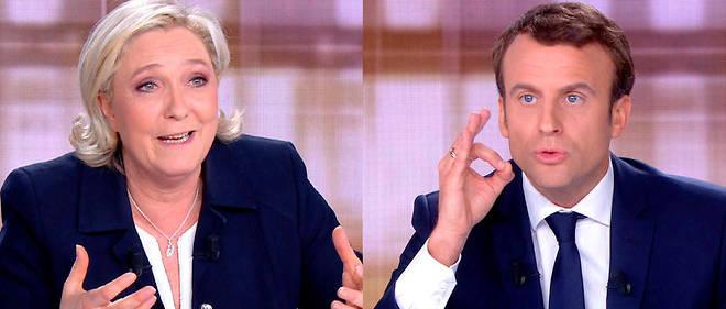 Marine Le Pen et Emmanuel Macron lors du débat de l'entre-deux tours, mercredi 3 mai.