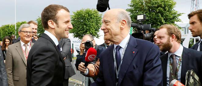 Emmanuel Macron et Alain Juppé en juin 2016 à Villepinte.