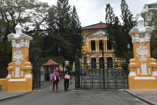Un bâtiment datant de l'époque du protectorat français à Ho Chi Minh-Ville, au Vietnam, le 21 février 2017 © HOANG DINH NAM AFP