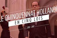 Mariage pour tous, loi travail, loi Macron... Plusieurs textes de loi ont marqué le mandat de François Hollande. Revue en images. ©AFP
