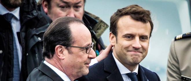 Lors de la cérémonie du 8 Mai, François Hollande a multiplié les signes paternalistes envers Emmanuel Macron.