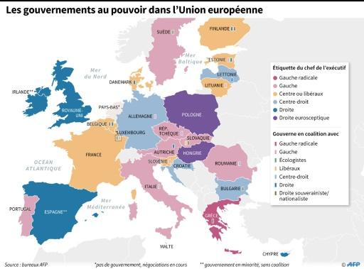 Les gouvernements des pays de l'UE © Thomas SAINT-CRICQ, Sabrina BLANCHARD AFP