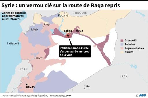 Syrie : un verrou clé sur la route de Raqa repris © AFP AFP/Archives
