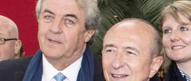 L'adjoint aux finances Richard Brumm, a gauche de Gerard Collomb.