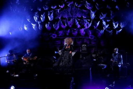 La chanteuse brésilienne Elza Soares à New York, le 19 mai 2017 © KENA BETANCUR AFP