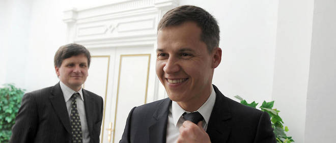 Boris Boillon au Palais de Carthage lors de sa nomination comme ambassadeur de France en février 2011.
