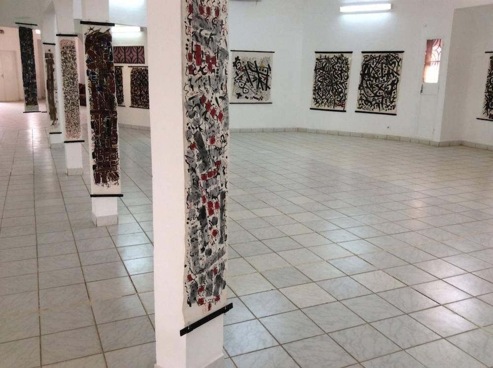 Une vue de l'exposition de Hawad au musée national de Niamey. ©  Olivia Marsaud/CCFN Jean Rouch