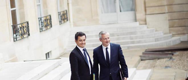 Gérald Darmanin, ministre de l'Action et des Comptes publics, et Bruno Le Maire, ministre de l'Économie, devront dès septembre mettre en œuvre la réforme fiscale