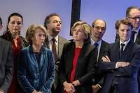 Bruno Retailleau, Valérie Boyer, Caroline Cayeux, Luc Chatel, Valérie Pécresse, Éric Woerth, François Baroin, députés LR. ©HAMILTON