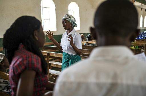 Un kimbanguiste dans une paroisse à Béni, en République démocratique du Congo (RDC), le 13 novembre 2016 © Eduardo Soteras AFP/Archives