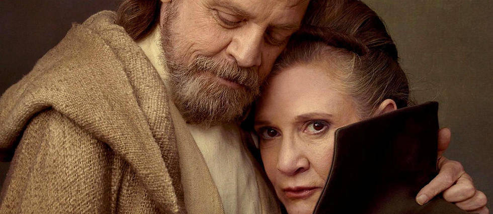 Mark Hamill et Carrie Fisher dans Star Wars 8.