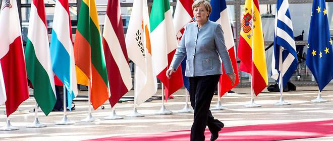 Angela Merkel à Bruxelles le 29 avril. La déclaration de la chancelière fait suite au G7 mais aussi aux déclarations de Donald Trump sur l'Otan.