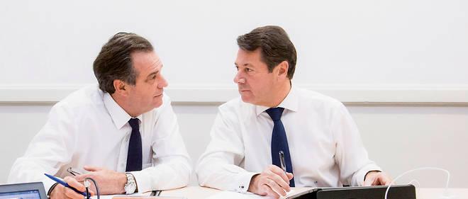 Christian Estrosi et son successeur à la tête de la région Paca, Renaud Muselier.
