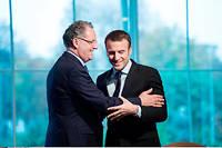 Emmanuel Macron et Richard Ferrand, son soutien de la première heure. ©CHAMUSSY/SIPA