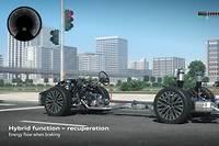 Récupérer l'énergie produite par le travail des amortisseurs est toute l'astuce de l'Audi eRot.