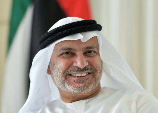 Anwar Gargash, le ministre d'Etat émirati aux Affaires étrangères, lors d'une interview avec l'AFP, le 7 juin 2017 à Dubaï © GIUSEPPE CACACE AFP