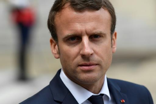 """Emmanuel Macron, le 7 juin 2017 à l'Elysée, a """"invité toutes les parties prenantes à poursuivre le dialogue"""" © bertrand GUAY AFP"""