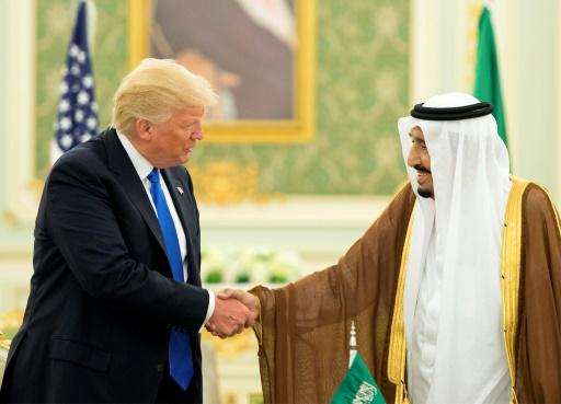 Le président américain Donald Trump et le roi Salmane d'Arabie, le 20 mai 2017 à Ryad © BANDAR AL-JALOUD Saudi Royal Palace/AFP/Archives