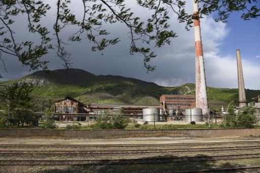 Principalement situé sur la municipalité divisée de Mitrovica, le groupe industrialo-minier Trepca, ex-fleuron yougoslave, employaitdu temps de sa splendeur 17.000 personnes. © Armend NIMANI AFP