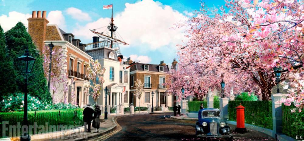 Cherry tree Lane _spring_EK.JPG ©  Disney /  Disney