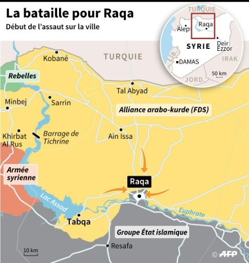 La bataille pour Raqa © Sabrina BLANCHARD AFP