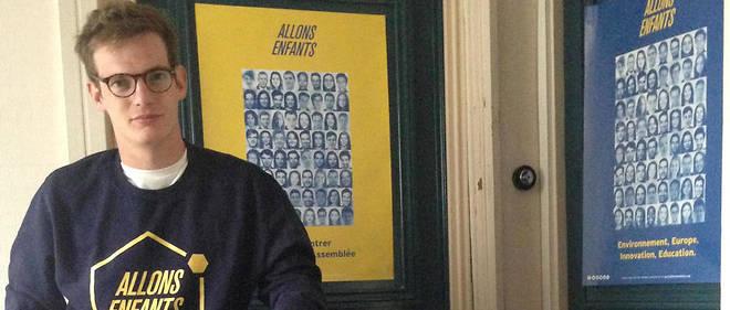Le fondateur du parti Allons enfants qui cherche à faire élire des députés de moins de 25 ans à l'Assemblée. «J'essaie de réparer une injustice», explique Pierre Cazeneuve, le fondateur.