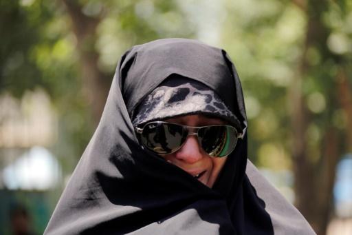Une Iranienne aux funérailles des victimes des attentats à Téhéran, le 9 juin 2017 © ATTA KENARE AFP