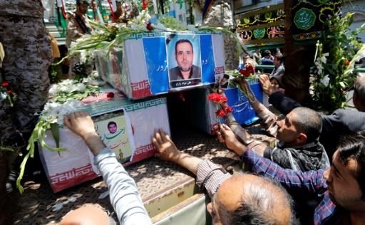 Funérailles des victimes des attentats à Téhéran, le 9 juin 2017 © ATTA KENARE AFP
