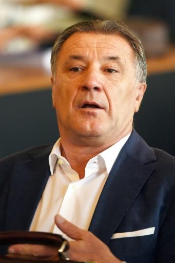 L'ex-président du Dinamo Zagreb Zdravko Mamic, jugé pour détournement de fonds au palais de justice d'Osijek, le 13 juin 2017  © STRINGER AFP