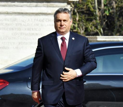 Le Premier ministre hongrois Victor Orban, le 25 mars 2017 à Rome © Andreas SOLARO AFP/Archives