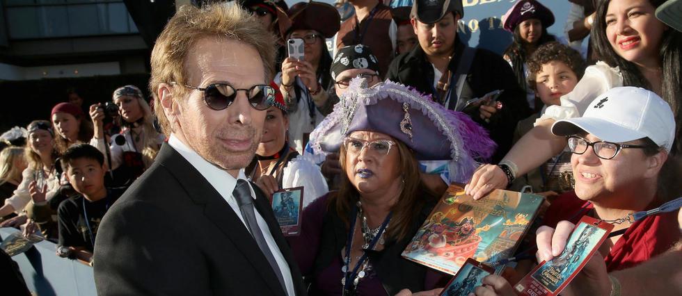 Jerry Bruckheimer, le 18 mai dernier, lors de l'avant première californienne de Pirates des Caraïbes : la vengeance de Salazar, au Dolby Theatre de Los Angeles.