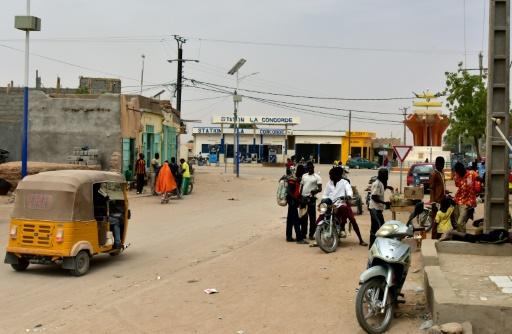 Une rue d'Agadez, dans le nord du Niger, le 5 avril 2017 © ISSOUF SANOGO AFP