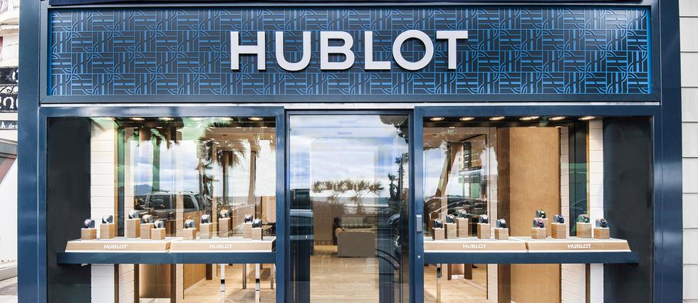 Esprit marin pour les nouvelles boutiques Hublot de la Côte d'Azur.