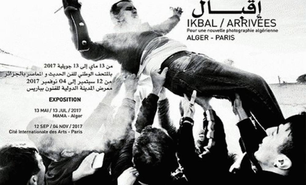Affiche officielle de l'exposition « Ikbal/arrivées Pour une nouvelle photographie algérienne » au MAMA. ©  Youcef Krache