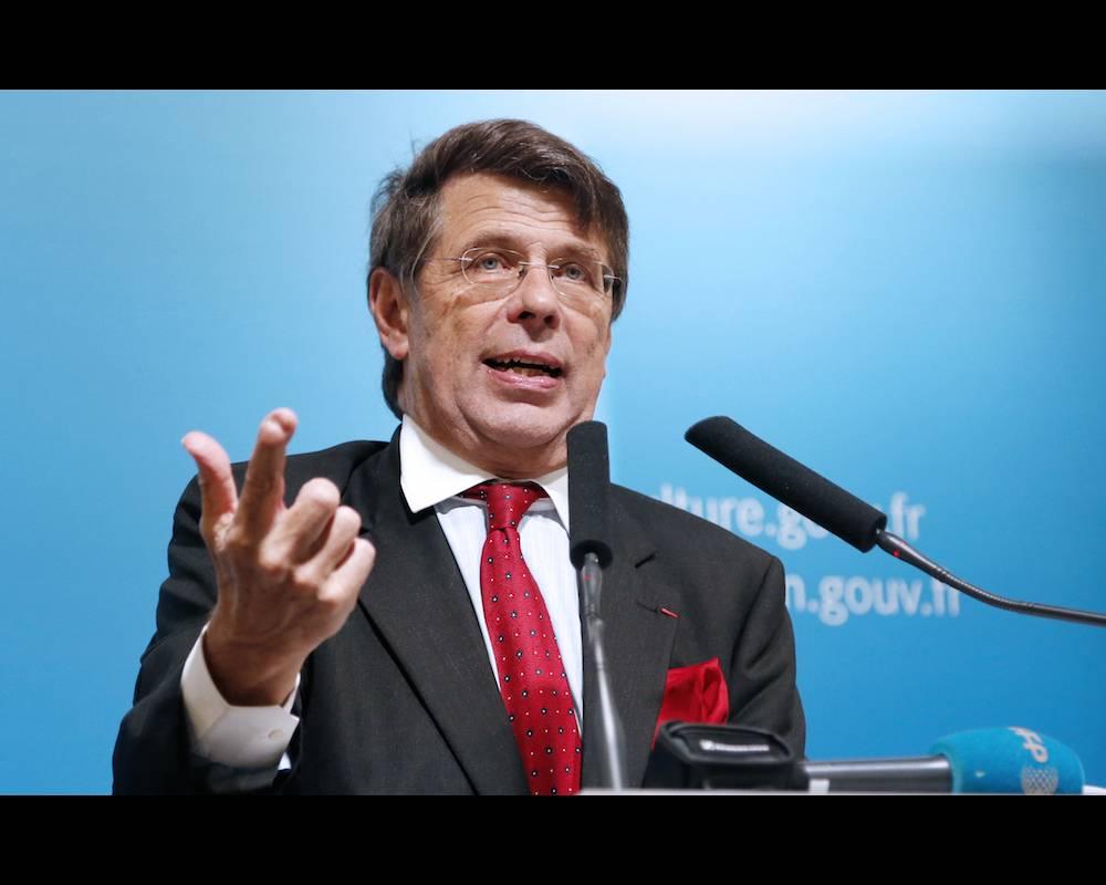 Philippe Chalmin, économiste, professeur à l'université de Paris-Dauphine, coordonne tous les ans le rapport Cyclope sur les marchés des matières premières dans le monde. ©  PIERRE VERDY / AFP