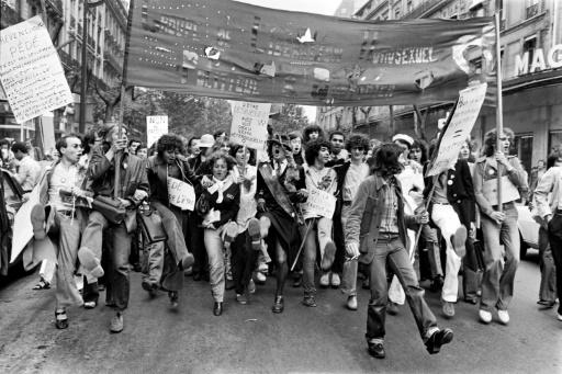 La première Gay Pride parisienne, le 25 juin 1977 © STRINGER AFP/Archives