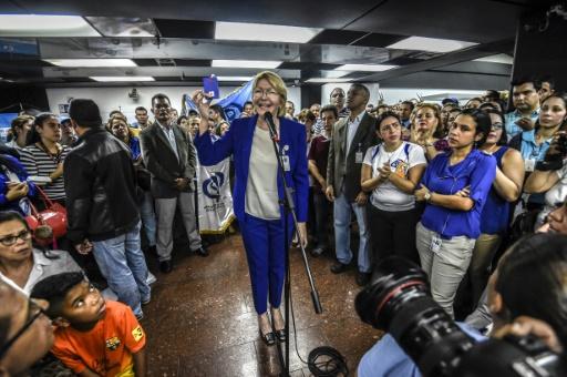 La procureure générale Luisa Ortega, le 19 juin 2017 à Caracas, au Venezuela © JUAN BARRETO AFP