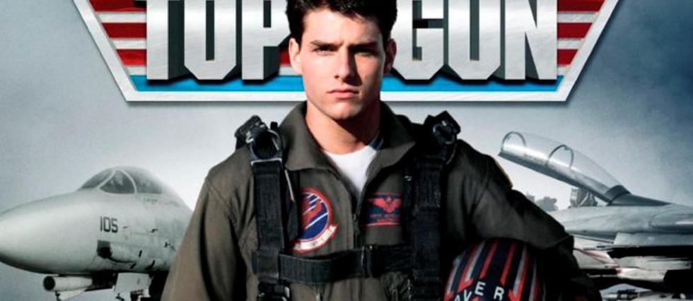Tom Cruise dans Top Gun premier du nom.